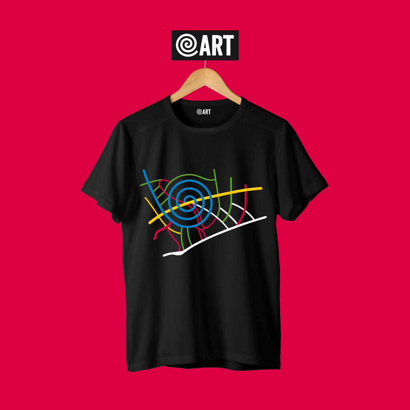 t-shirt Men map pineta map black