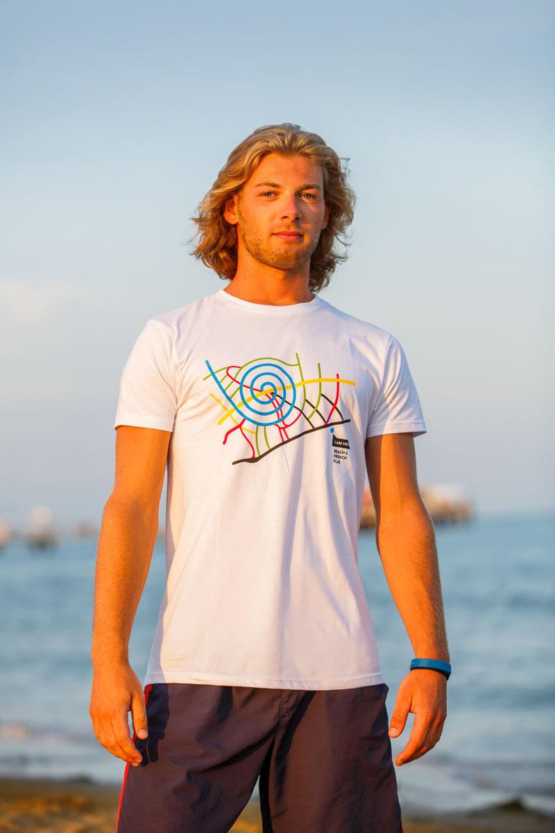 T-Shirt Beach 6 men white