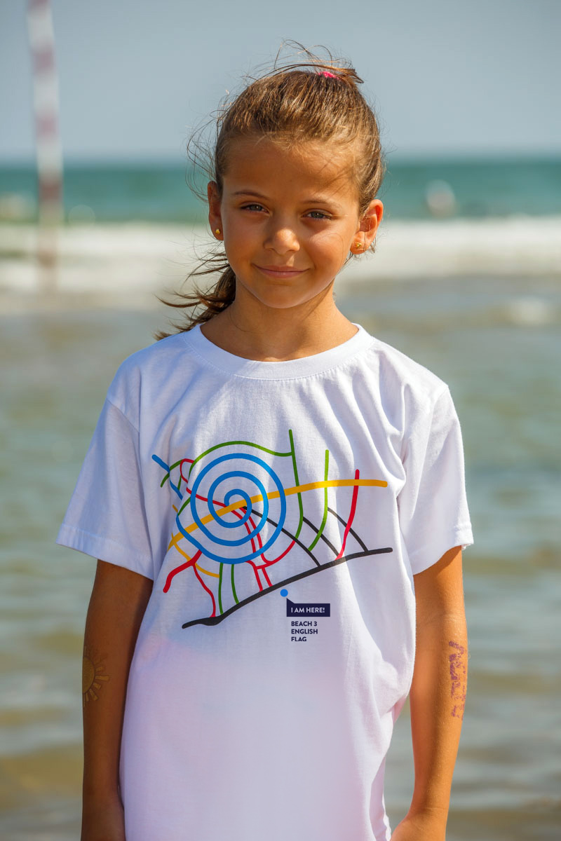T-Shirt Beach 3 kids white