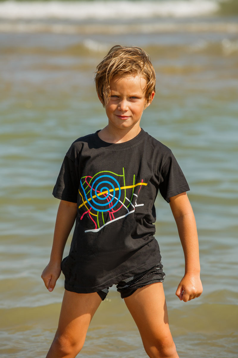 T-Shirt Map kids black