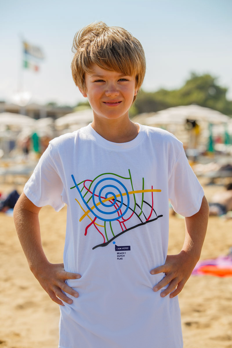 T-Shirt Beach 1 kids white