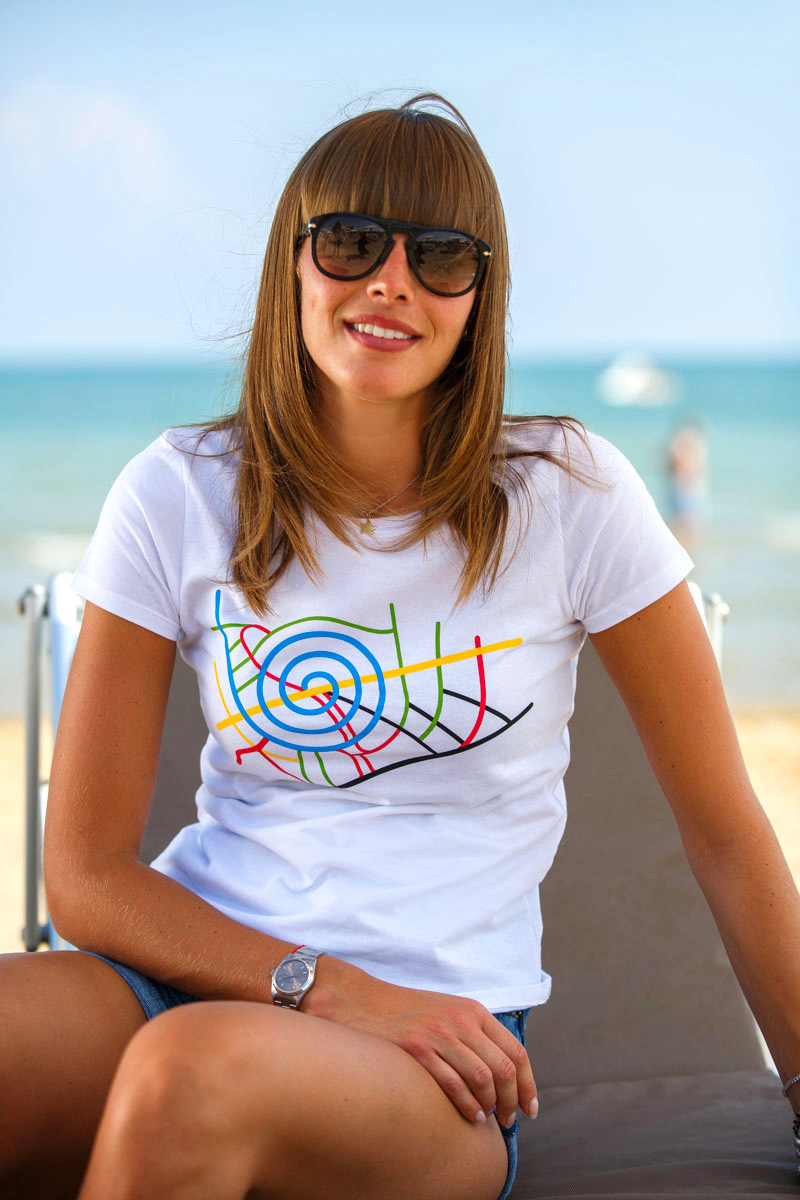 T-Shirt Map women white