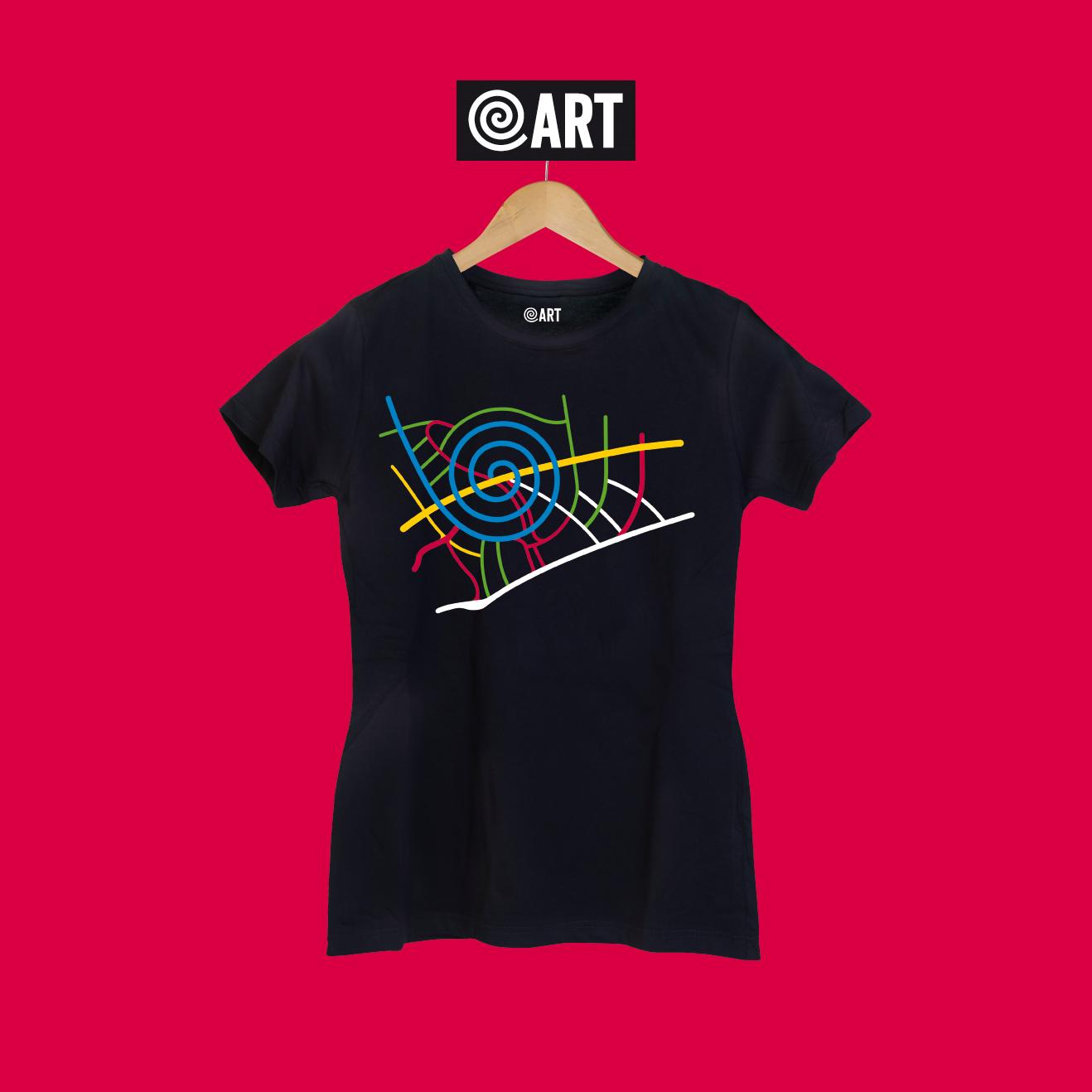 t-shirt donna map pineta map black
