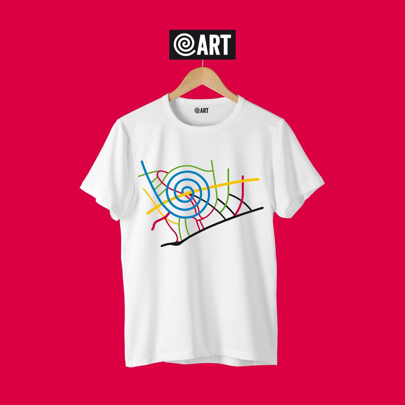 t-shirt uomo map pineta map white