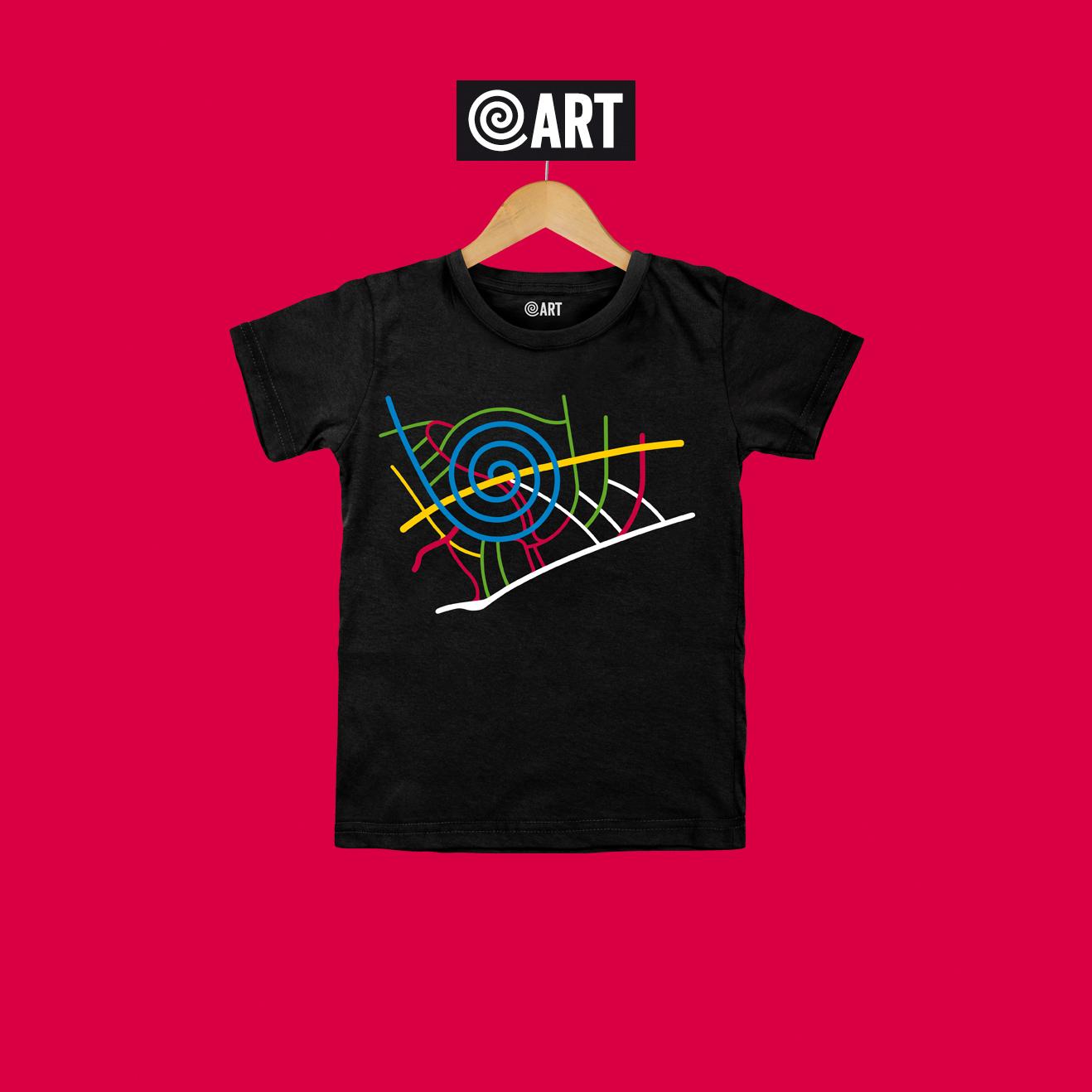 t-shirt bambino map pineta map black