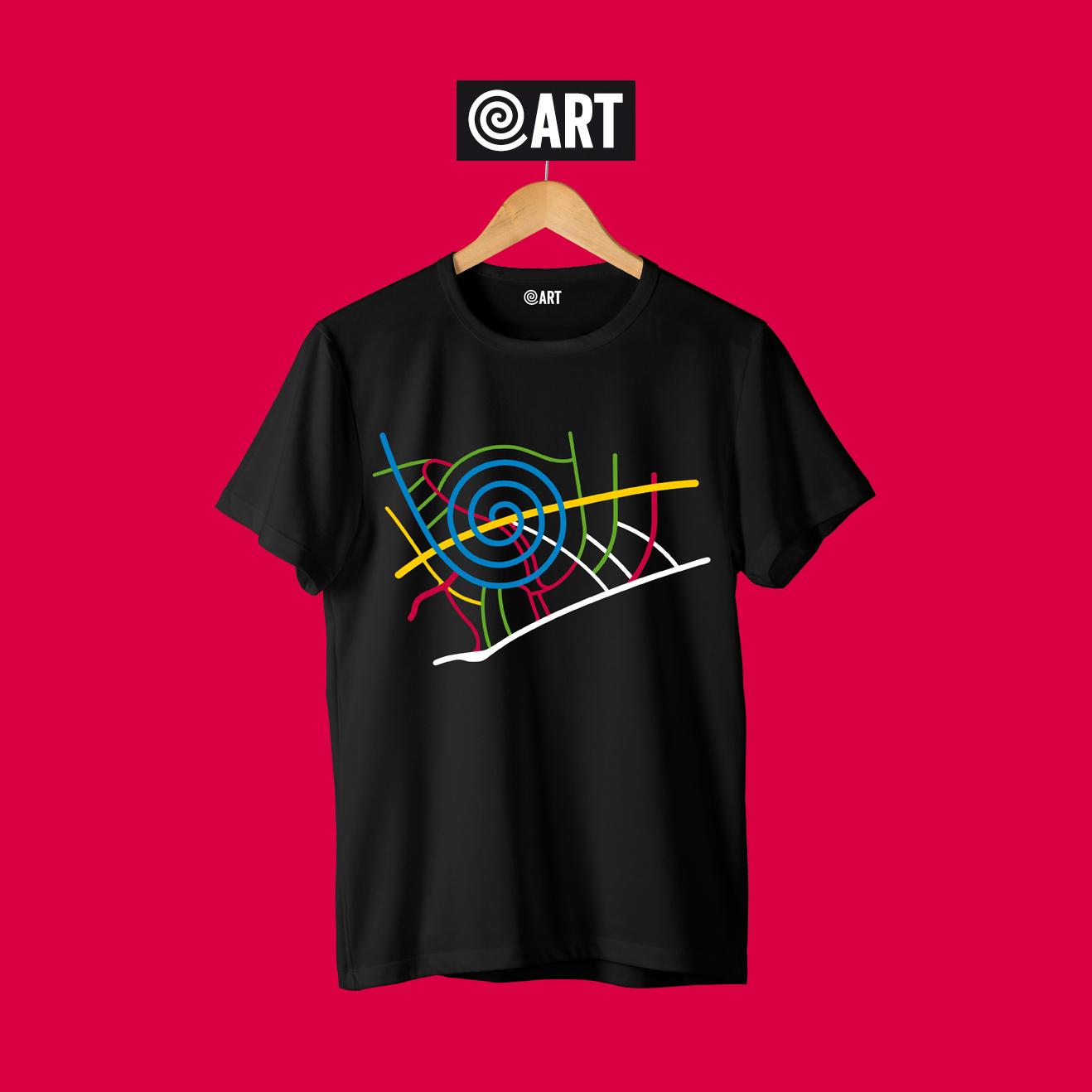 t-shirt uomo map pineta map black